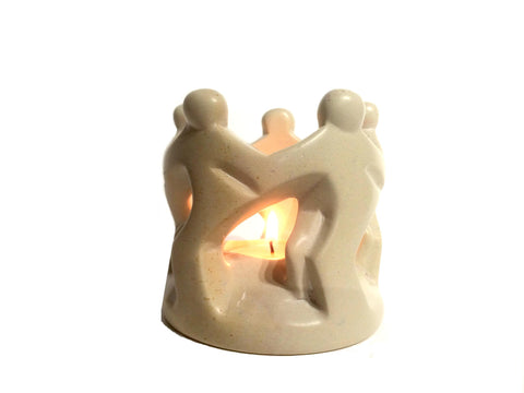 Natural Dancing Family Tealight (trade set of 6 - min 6)