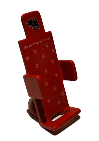 Soapstone Mobile Phone Holder - Red (min 2)