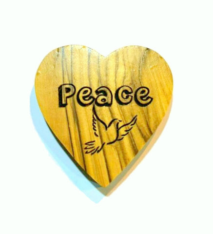 Olivewood Peace Hearts 5 cm (trade min 6)