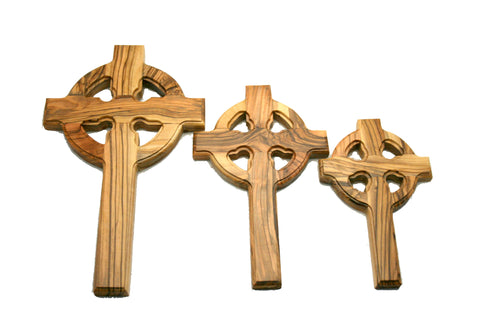 Olivewood Gaelic Cross with Hanger X-Large (min 2)
