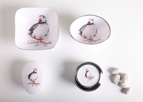 Puffin Coaster Set of 6 (min 4)