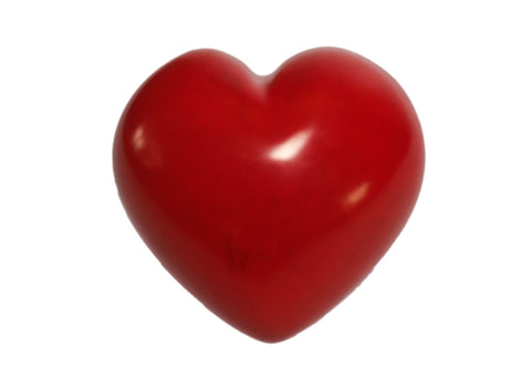 Red Soapstone Heart 4 cm (24 per display box - min 24)