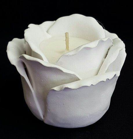 White Rose Flower Scented Candle (min 4) 8cm