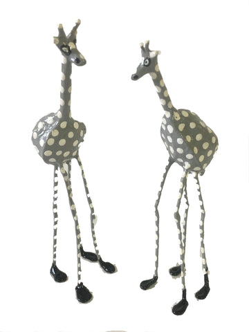 Seedpod Grey Giraffe - Large