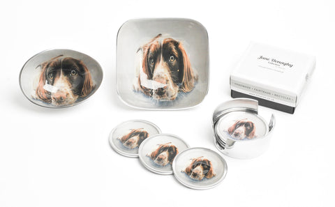 Springer Spaniel Oval Bowl Small (trade min 4)