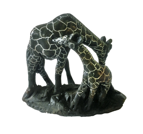Soapstone Giraffe Mother & Baby 15 cm *In Stock From April 2018*