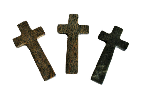 Soapstone Palm Holding Cross 10cm (min 6) *In Stock From April 2018*