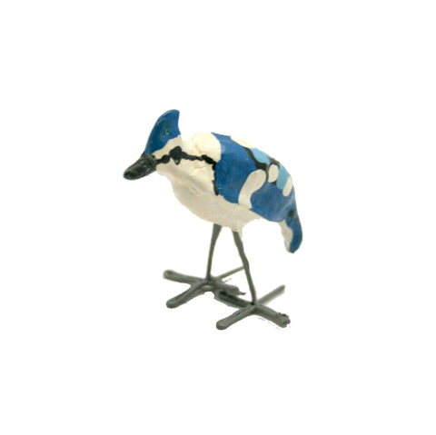 Seedpod Blue Jay Plant Pot Stick - SPBJP