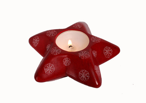 Star Snowflakes Tealight (trade min 6)