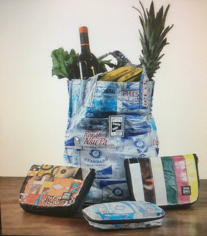 Recycled Water Sachet Billboard Smart Bag (40x23x36cm open - 4x23x18cm folded)