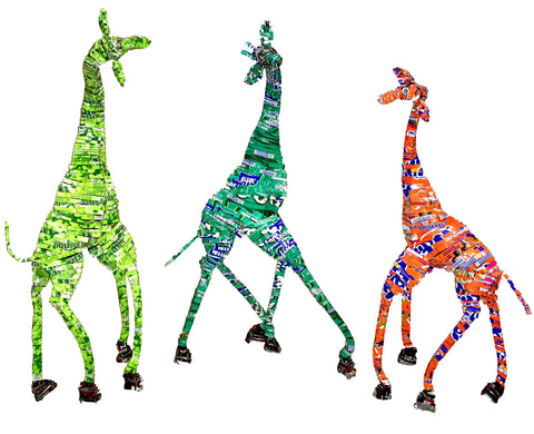 Tin Can Giraffe Large 3 Designs (min 3)