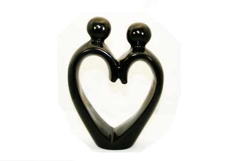 Heart Couple Black Medium (min 4)