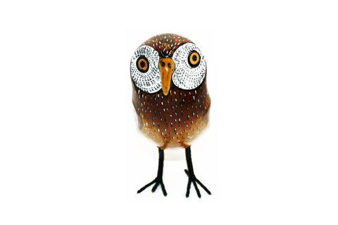 Painted Wooden Owl Small (min 2)