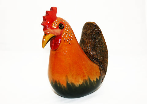 Painted Wooden Hen Small (min 2)