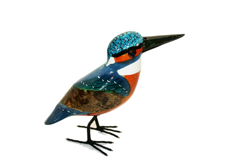 Painted Wooden Kingfisher Small (min 2)