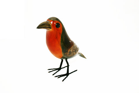 Painted Wooden Robin Small (min 2)