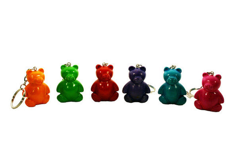 Teddy Bear Keyrings 4 cm (24 per display box - min 24)