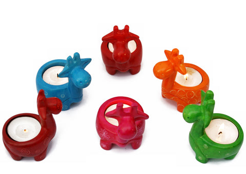 Mara Giraffe Tealight (assorted colours - min set of 6)