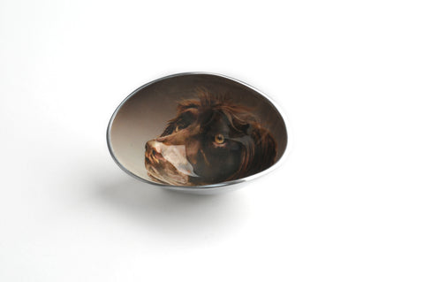 Brown Spaniel Oval Bowl Small (Trade min 4 / Retail min 1)