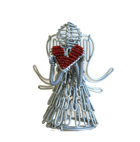 Wire Heart Angel 8cm (min 4) *In Stock From April 2018*