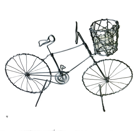 Large Wire Bicycle with Basket 30 cm (min 2) *In Stock From April 2018*