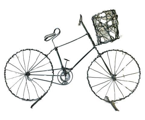 Large Wire Bicycle with Basket 30 cm (trade min 2)