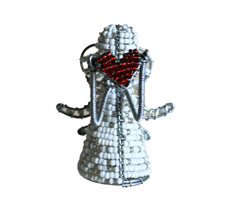 Beaded Heart Angel 8cm (min 4) *In Stock From April 2018*