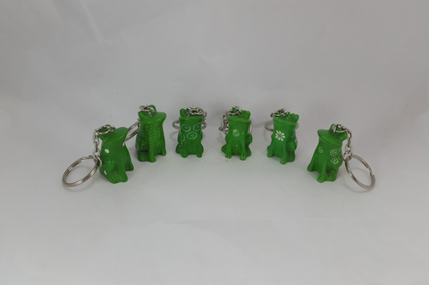 Sitting Frogs Keyrings 3cm - (min set of 24)