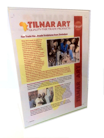 Point of Sale Poster for Handmade Products from Zimbabwe