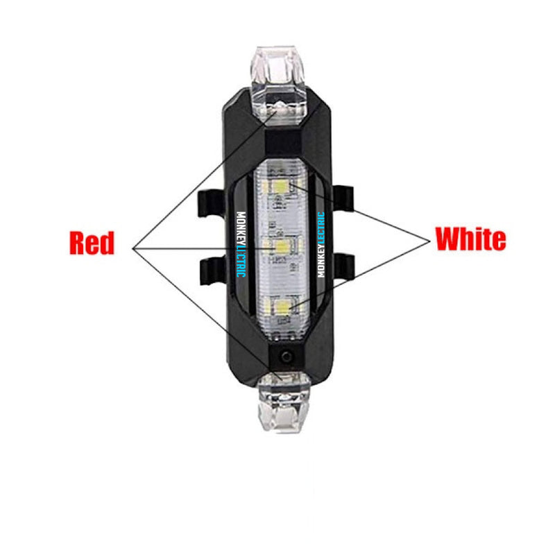 XT1 -Red & White USB Rechargeable LED Taillight with Safety Warning light