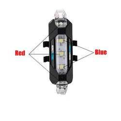 XT1 -Red & Blue USB Rechargeable LED Taillight