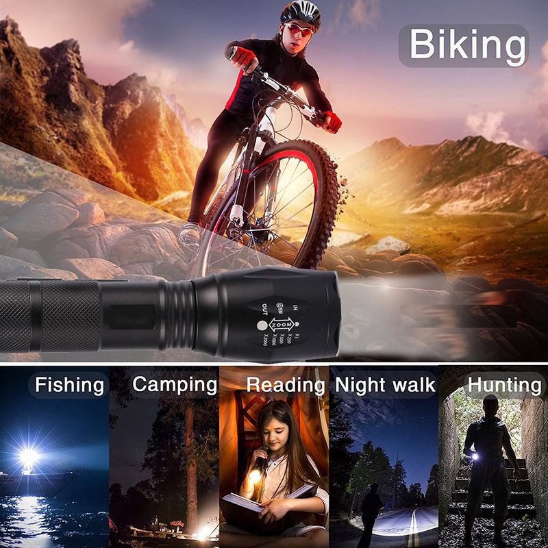 T17 - Front Bicycle Light 1000 Lumens with 5 Modes &  ZOOM Flashlight