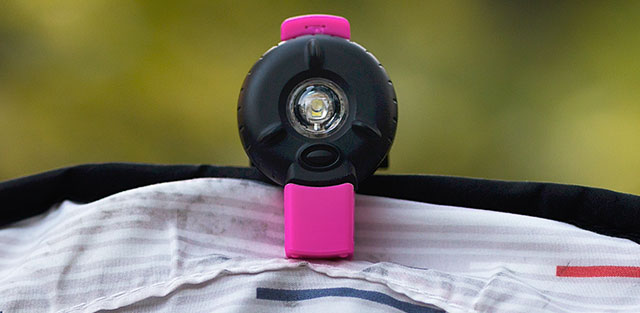 Monkeylectric Bkin Wearable Safety Light - Pink