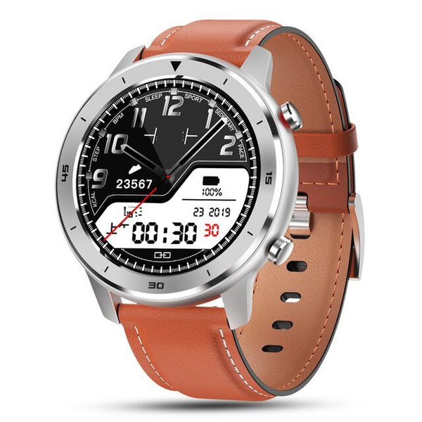 Monkeylectric SWISS87 Smartwatch - Beige Leather