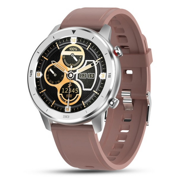 Monkeylectric SWISS87 Smartwatch - Brown Silicone