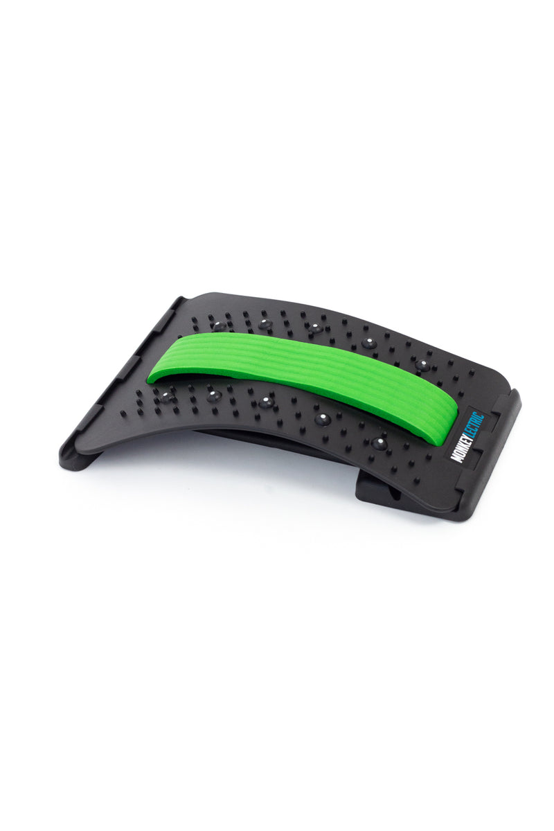 Monkeylectric Back Pain Relief Support - 3 Adjustable Settings - Green