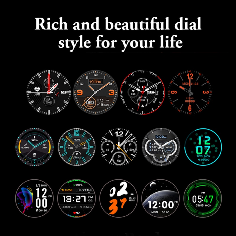 Monkeylectric SWISS87 Smartwatch - Phantom Black Silicone