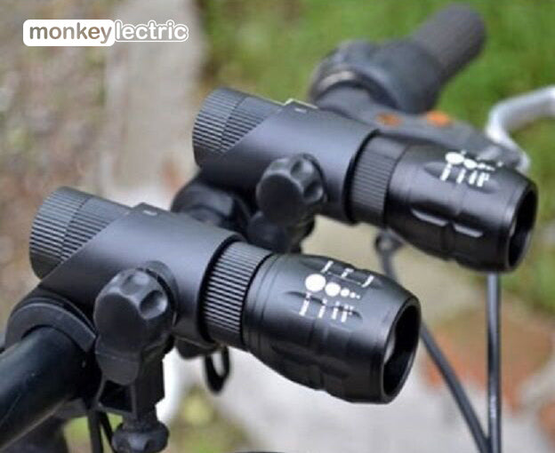 M14 - Two front zoom focus LED bike lights set