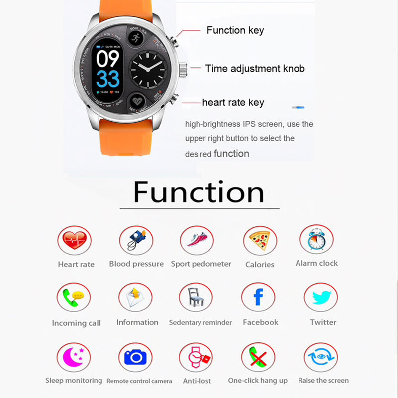 Monkeylectric Qsmart5 Thunder Smartwatch - Orange