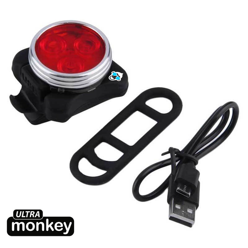 M11 - Rechargeable Bright LED Tail light - Spectre Red - 50 Lumen