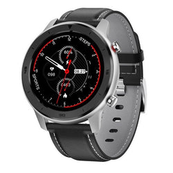 Monkeylectric SWISS87 Smartwatch - Sport Black/Silver Leather