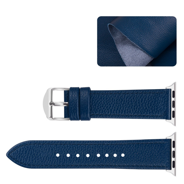 Monkeylectric Royal Blue Leather Watch Strap