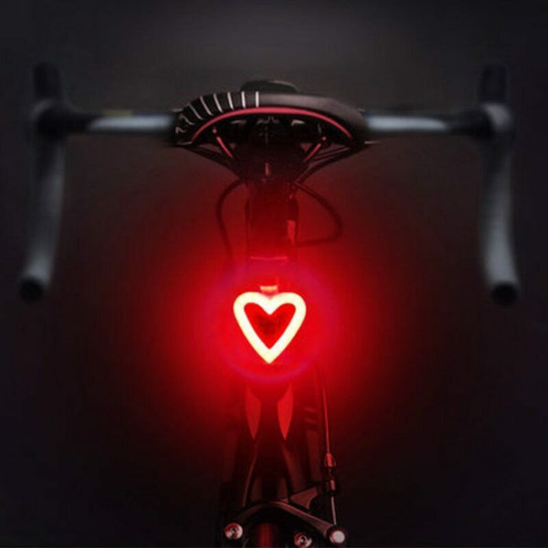 SuperMonkey TL1 - Rear Tail Bicycle Light - Heart