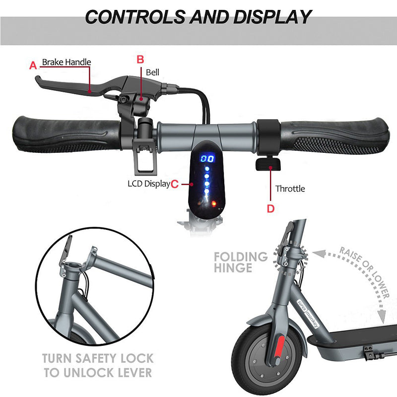 Monkeylectric M13 - 8.5inch Electric Scooter 500W - Black