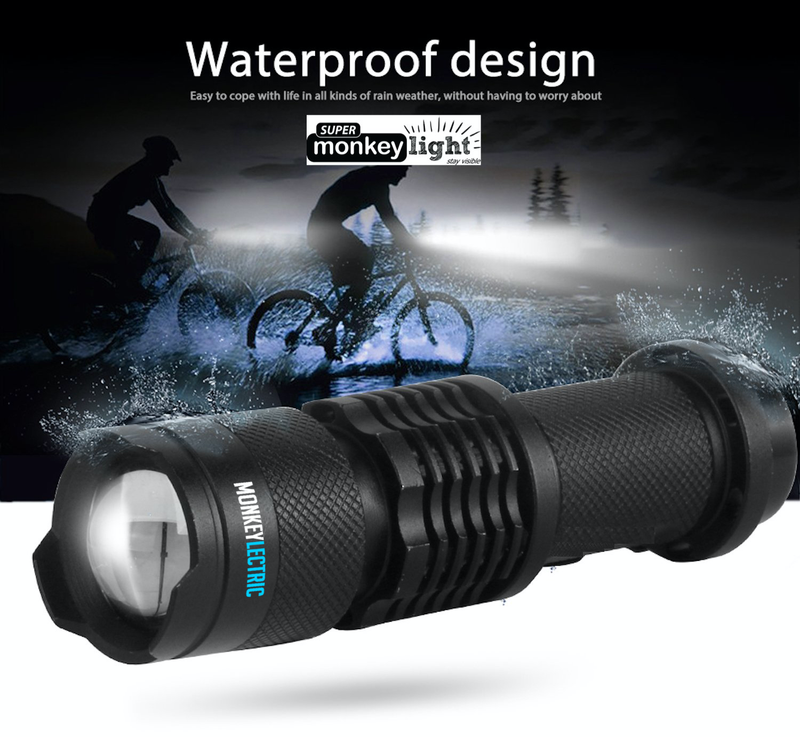 T16 - Front Bicycle Light 400 Lumens with 3 Modes &  ZOOM Flashlight