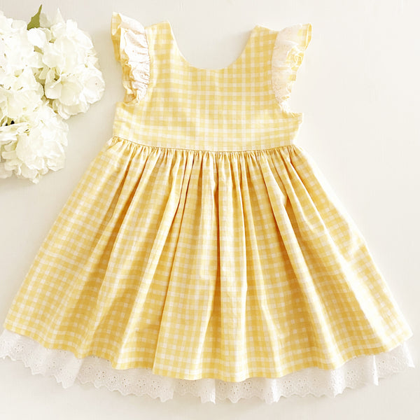 Gingham and Lace Dress Size 7