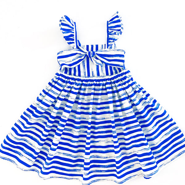 Striped Dress - Blue Size 4