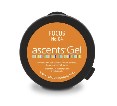 Diffuseur d'aromathérapie Ascents + 1 capsule Gel Ascents FOCUS no: 04