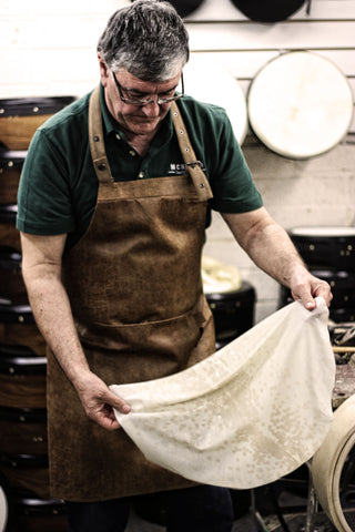 Paraic McNeela specialises in expertly treated goatskin for bodhráns