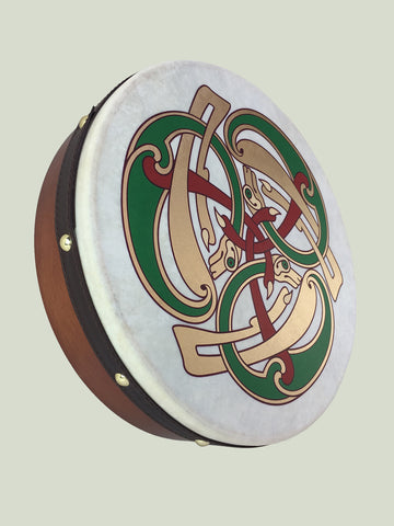 Celtic Bodhrán With Hounds Design
